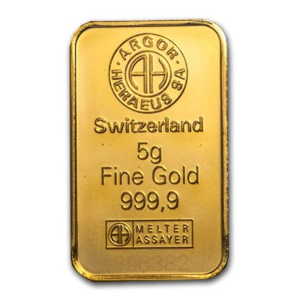 Argor-Heraeus 5 gram Gold Bar