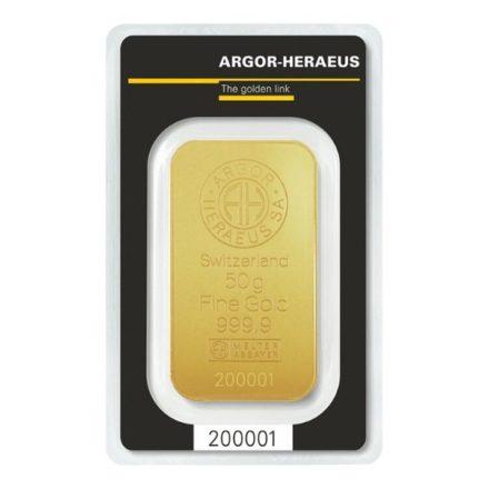 Argor-Heraeus 50 gram Gold Bar