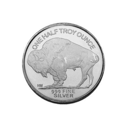 Buffalo 1_2 oz Silver Round Reverse
