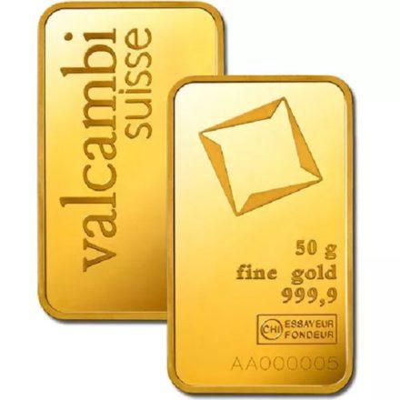 Valcambi 50 gram Gold Bar