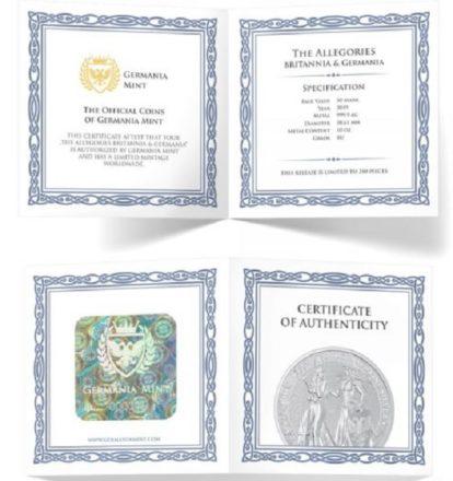2019 10 oz Silver Germania & Britannia 1