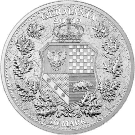 2019 10 oz Silver Germania & Britannia Reverse