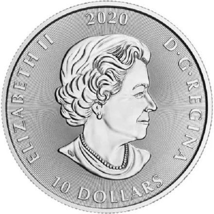 2020 2 oz Canadian Kraken Silver Coin Obverse