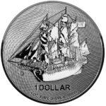2021 Cook Islands 1 oz Silver HMS Bounty Coin