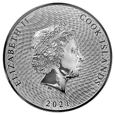 2021 Cook Islands 1 oz Silver HMS Bounty Coin Reverse