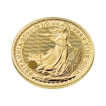 2021 1/2 oz British Gold Britannia Coin Angle