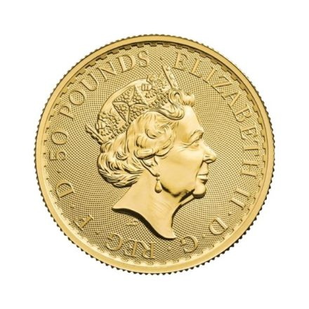 2021 1/2 oz British Gold Britannia Coin Effigy