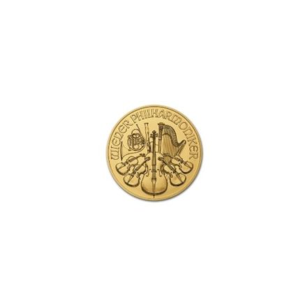 2021 1/25 oz Austria Gold Philharmonic Coin Reverse