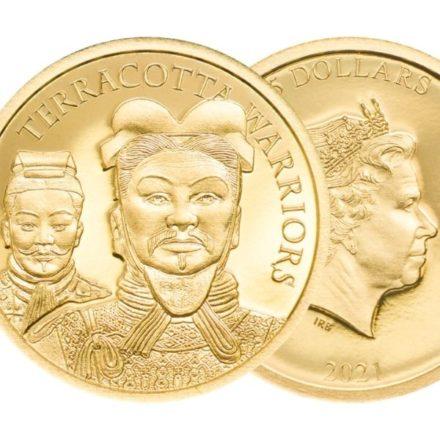 2021 Cook Islands 1/2 gram Gold Terracotta Warrior 1