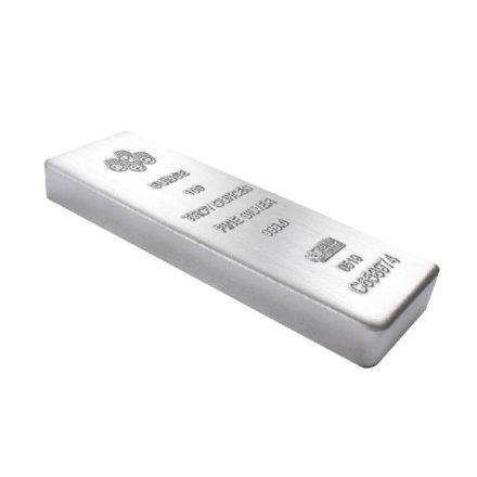 100 oz PAMP Suisse Silver Cast Bar