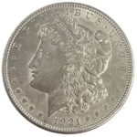 1921 Morgan Silver Dollar Coin - AU