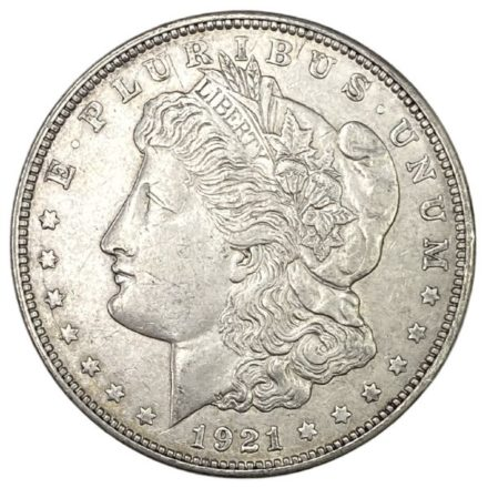 1921 Morgan Silver Dollar Coin - VG