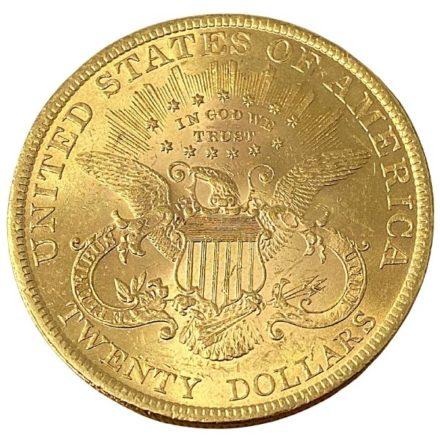 $20 Liberty Double Eagle Gold Coin BU Reverse