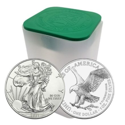 2021 1 oz American Silver Eagle Type 2 Tube of 20