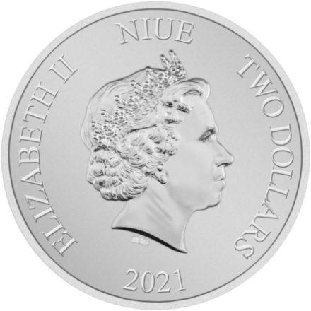 2021 1 oz Niue Millennium Falcon Silver Coin Effigy