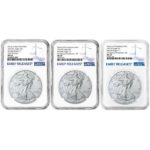 2021 American Silver Eagle 3-Coin Set NGC MS69 ER