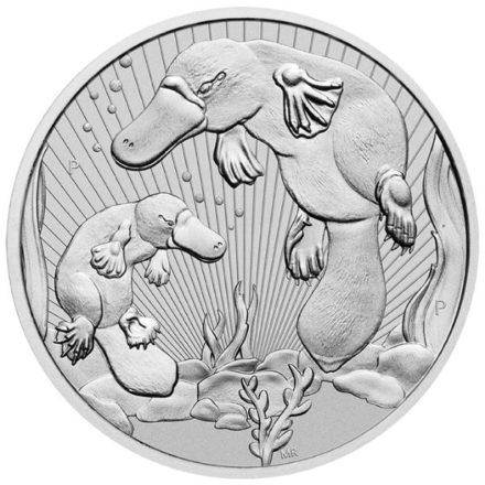 2021 Australian 2 oz SIlver Platypus Coin Straight On