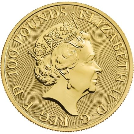 2021 British 1 oz Gold Queen's Beasts Completer Coin Effigy