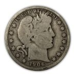90% Silver Barber Half $1 Face Value - Good+