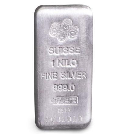PAMP Suisse 1 Kilo Silver Cast Bar