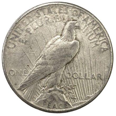 Peace Silver Dollar Coin - VG Reverse