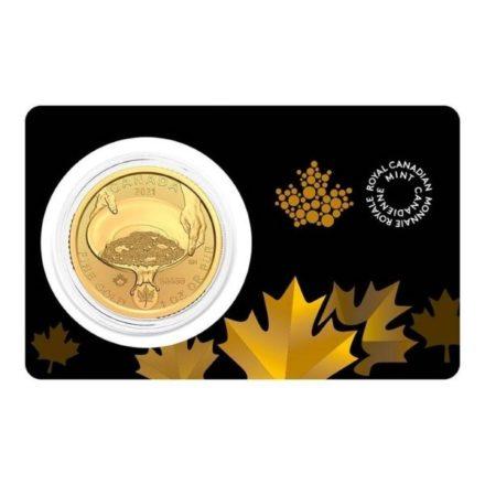 2021 1 oz Canadian Gold Klondike Coin Assay Card