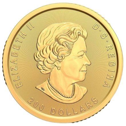 2021 1 oz Canadian Gold Klondike Coin Obverse
