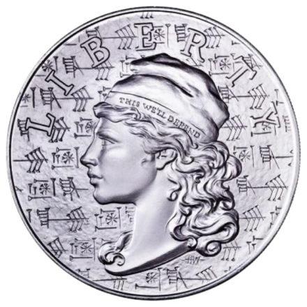 2021 5 oz Ama-Gi Liberty High Relief Silver Round