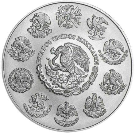 2021 5 oz Mexican Silver Libertad Coin Reverse