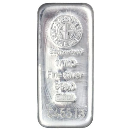 Argor-Heraeus 1 Kilo Silver Bar