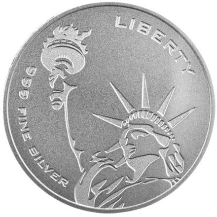 Asahi Freedom Liberty 1 oz Silver Round Reverse