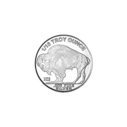 Buffalo 1/10 oz Silver Round Reverse