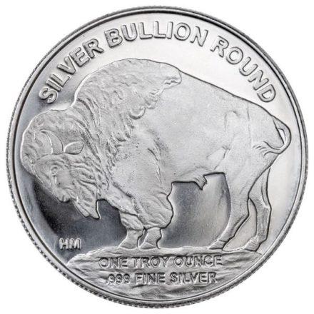 Buffalo 1 oz Silver Round - HM Reverse