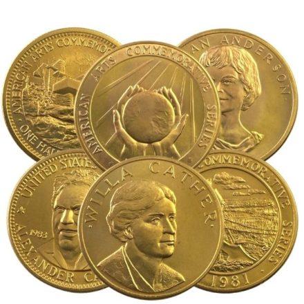 US Mint 12 oz Gold Commemorative Arts Medal