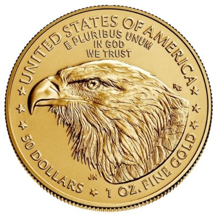 2021 1 oz American Gold Eagle Coin Type 2 Reverse