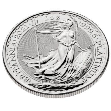 2021 1 oz British Platinum Britannia Coin angle
