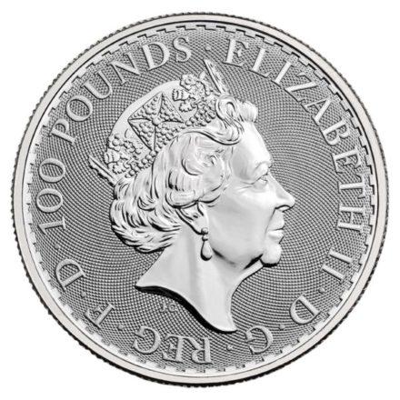 2021 1 oz British Platinum Britannia Coin Effigy