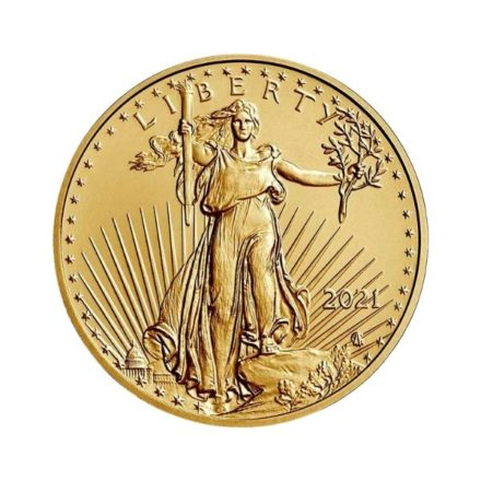 2021 1/4 oz American Gold Eagle Coin Type 2