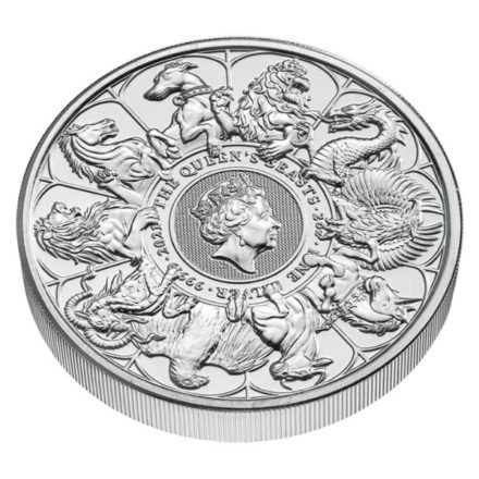 2021 2 oz British Silver Queen's Beast Completer Angle