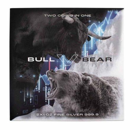 2021 Solomon Islands Silver Bull Bear 2 Coin Set Packaging