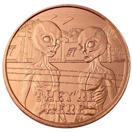 Area 51 They're Here 1 oz Copper Round