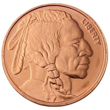 Buffalo Nickel 1 oz Copper Round