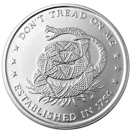 Don't Tread on Me 1 oz Silver Round (1)