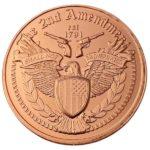 Heraldic Eagle 2nd Amendment 1 oz Copper Round