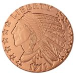 Incuse Indian 1 oz Copper Round