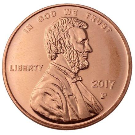 Lincoln Penny 1 oz Copper Round
