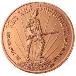 Minuteman 2nd Amendment 1 oz Copper Round