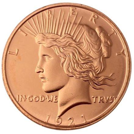 Peace Dollar 1 oz Copper Round