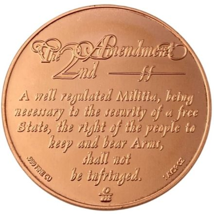 We The People 2nd Amendment 1 oz Copper Round Reverse