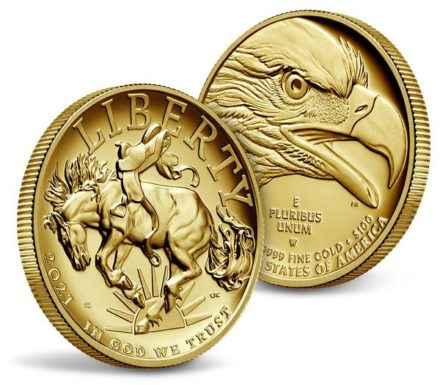 2021 1 oz American Liberty High Relief Gold Coin